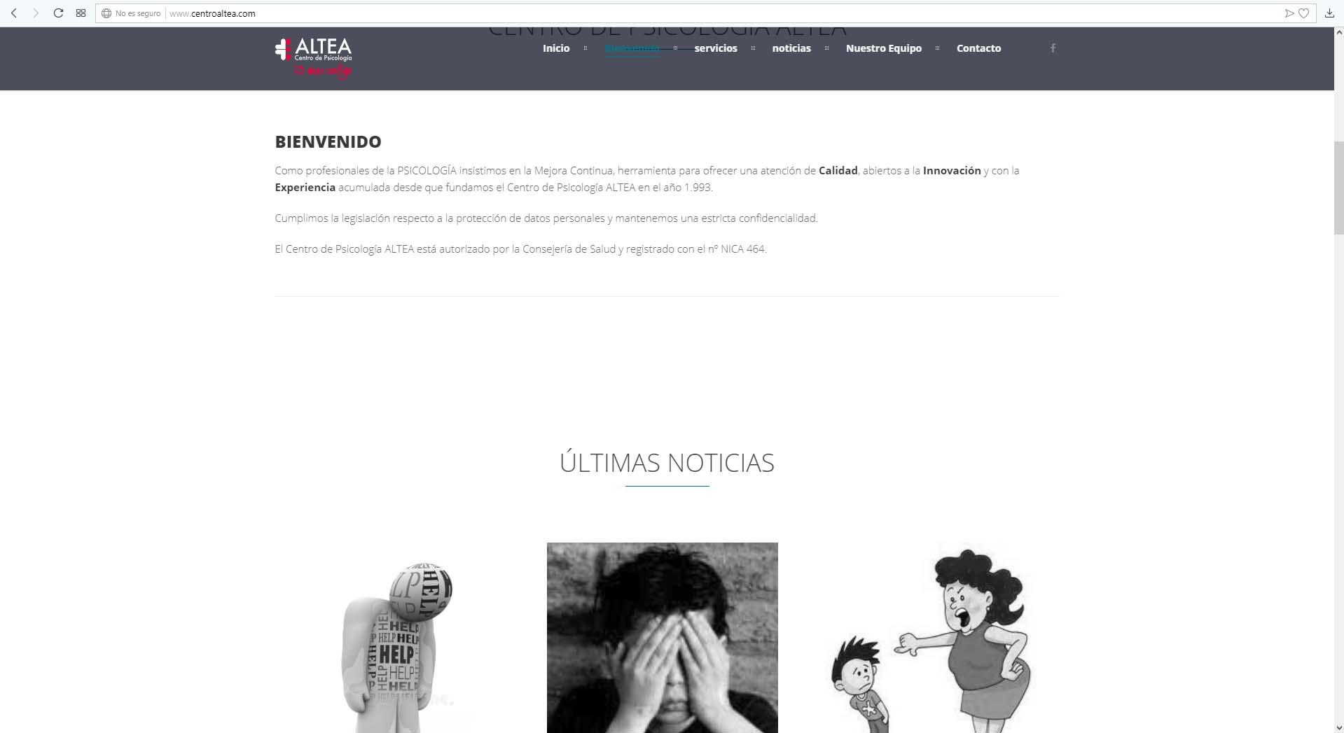 Web Centro de Psicología Altea