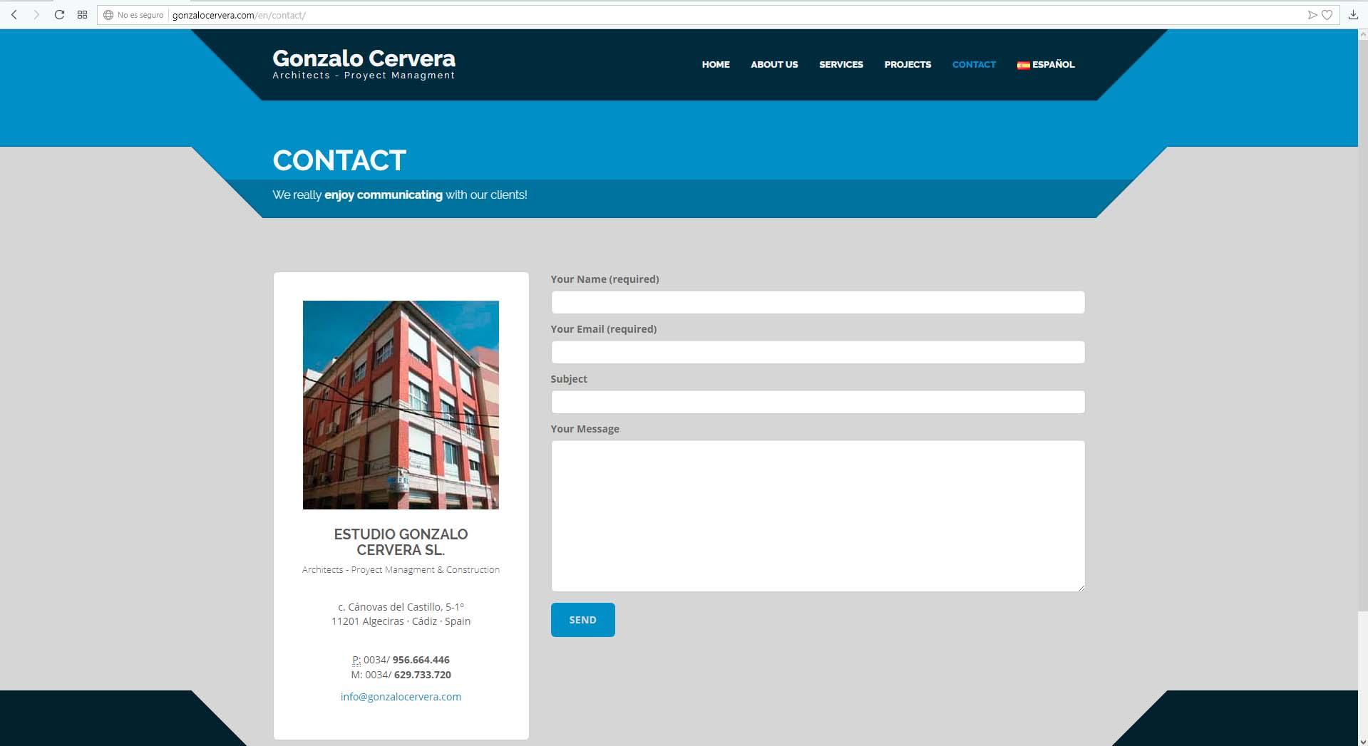 Página Web Gonzalo Cervera
