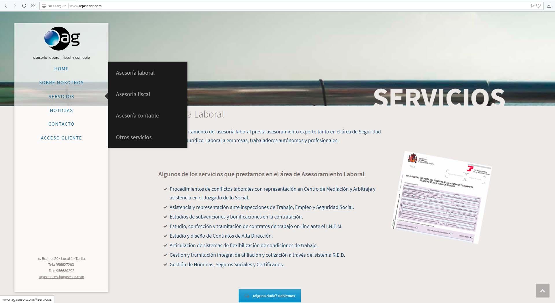 Página Web AG Asesores