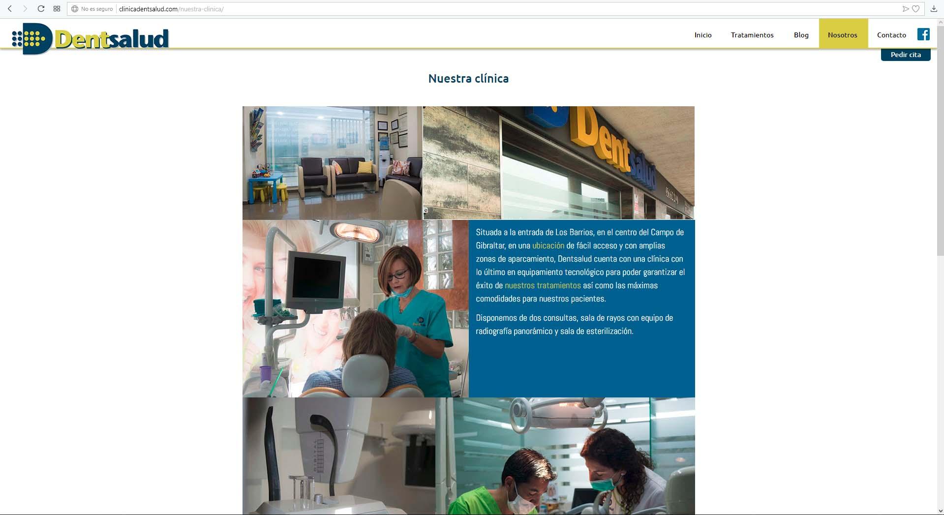 Página Web Clínica Dentsalud