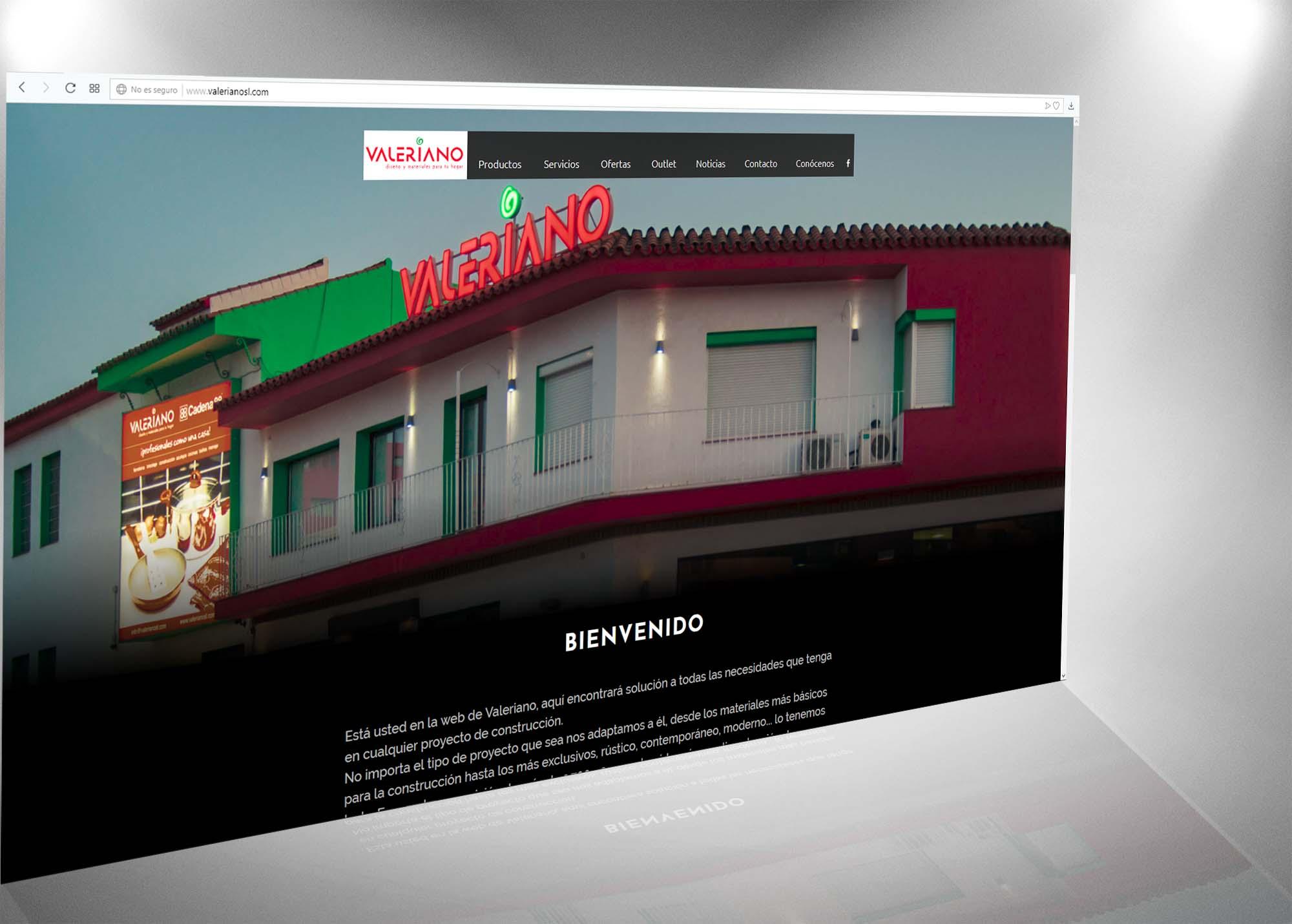 página web Almacenes Valeriano